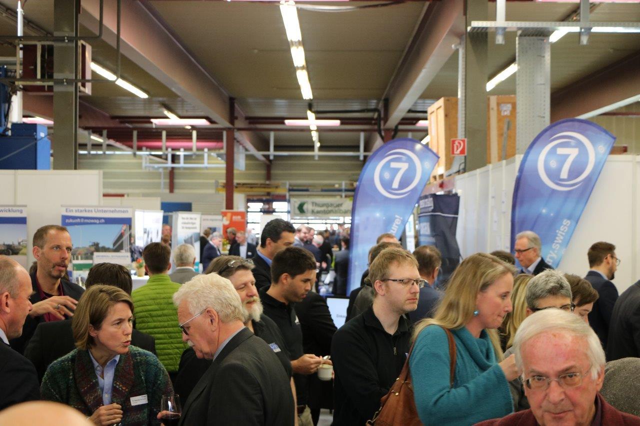 Bild der Messehalle des Thurgauer Technologietages.